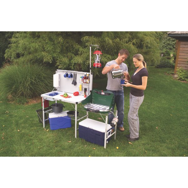 coleman camp kitchen with sink coleman pack away deluxe camp kitchen with sink review 8243