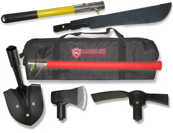 mag lok modular shovel and axe kit for recovery