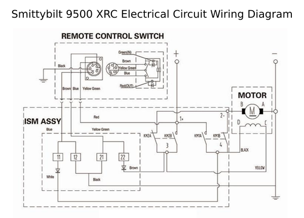 smittybilt 97495 xrc winch 9500 lb load capacity strong and rh roundforge com smittybilt xrc8 winch wiring diagram smittybilt xrc8 winch wiring diagram