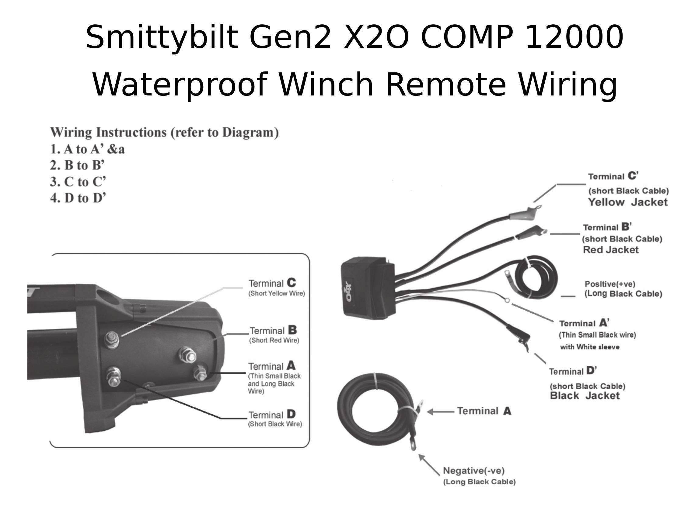 Complete Specs  Smittybilt Gen2 X2o Comp 10000 Waterproof