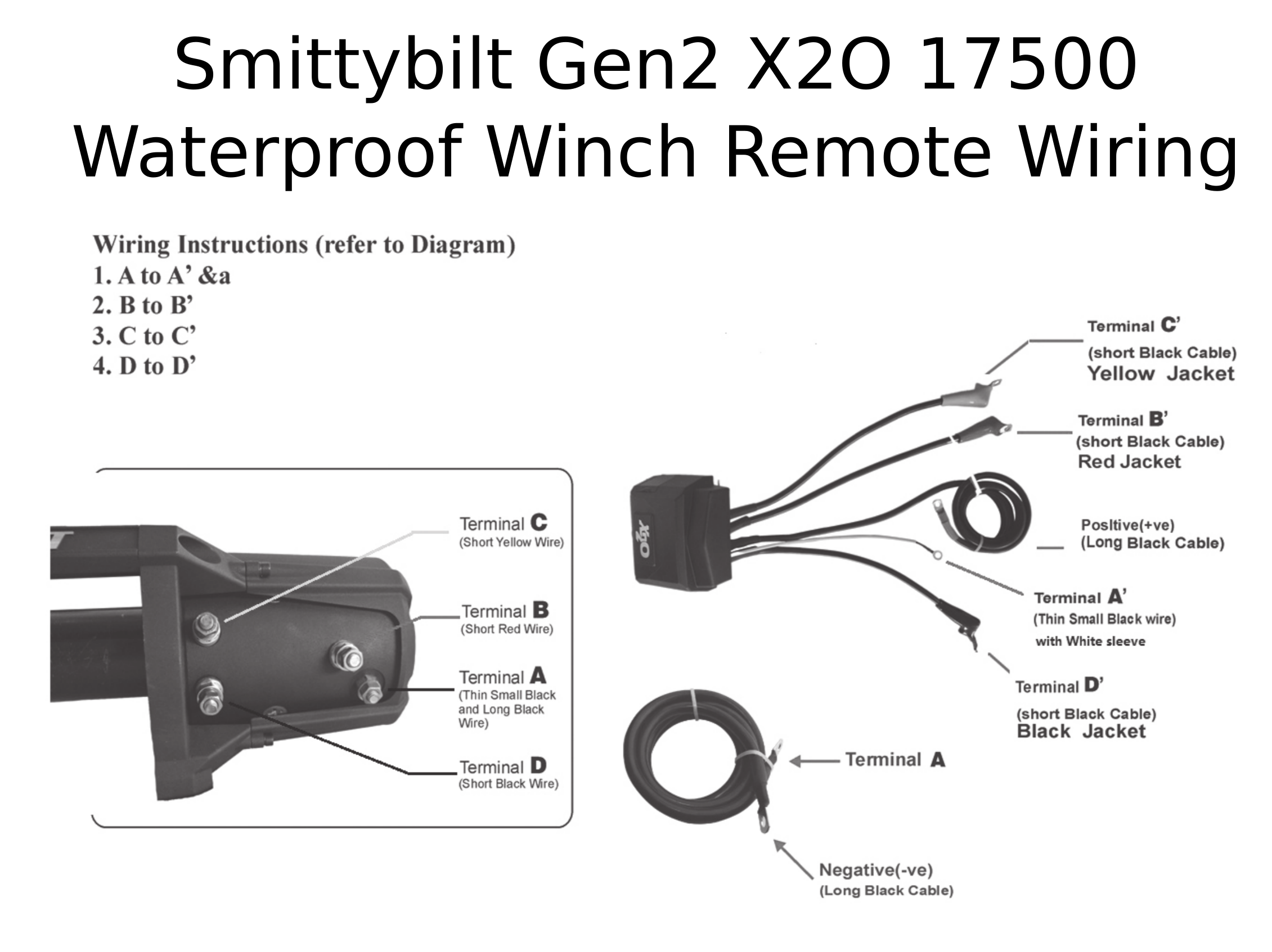 smittybilt gen2 x2o 17500 waterproof winch 97517