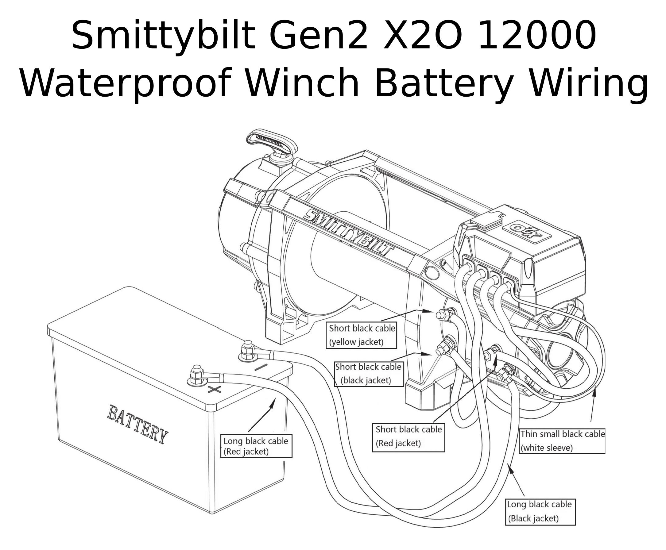 Complete Specs  Smittybilt Gen2 X2o 12000 Waterproof